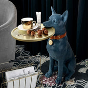 Creative Resin Craft Dog Sculpture Tea Table-Blue