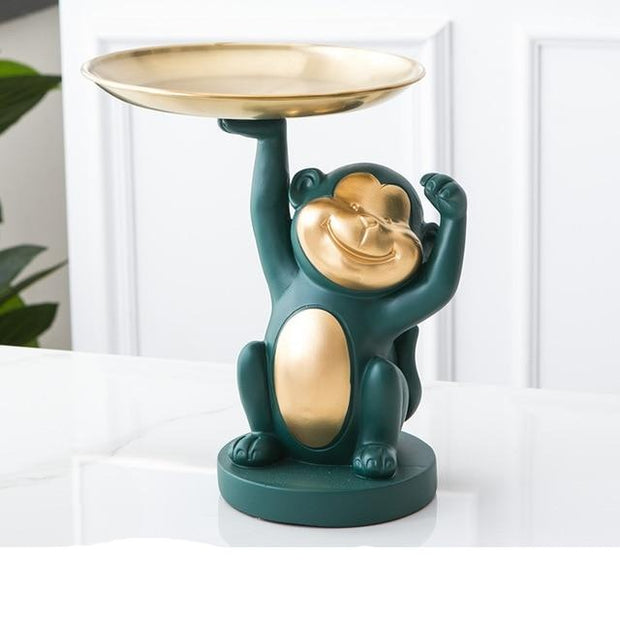 Monkey Table Decoration Sculpture cakeplate from Patrizioricci.com