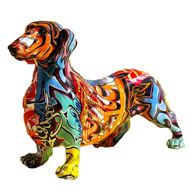 Patrizio Ricci Colorful Dachshund 3D print Art Dog from Patrizioricci.com