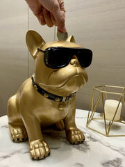 Cute Dog Hucha for Household-Gold