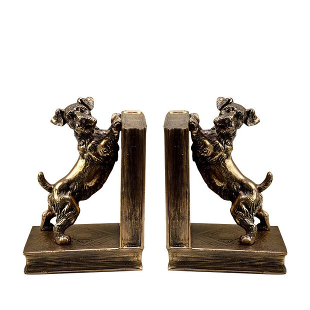 Bookend Nordic Resin Dog Sculptures