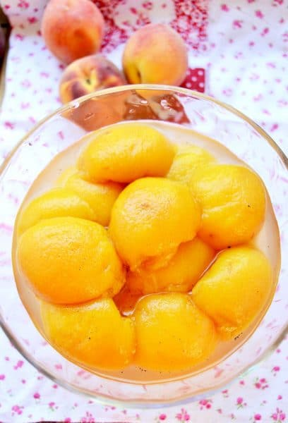 recette sirop pêches