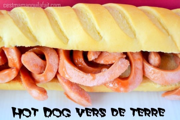hot dog vers de terre