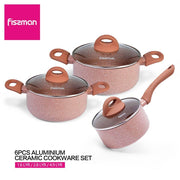 Set de 3 casseroles en alliage d'aluminium antiadhésives