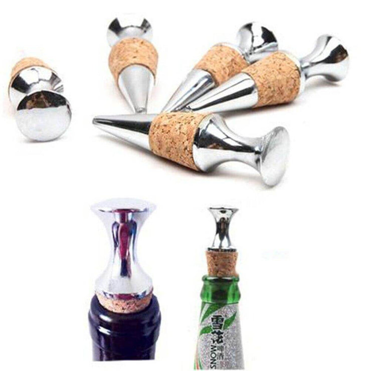 Practical Zinc Alloy Glyptostrobus Wine Stopper Wine Cork Wine Bottle Stoppers Bar Tools Kitchen Accessories 1PC
