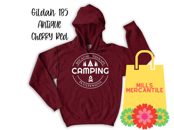 Camping Because Therapy Is Expensive Tee