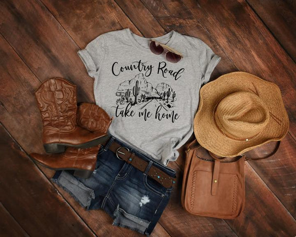 Country Road Take Me Home Tee