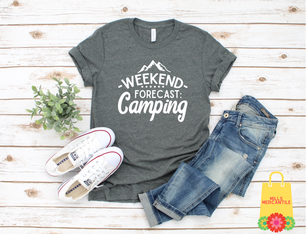 Weekend Forecast Camping Tee