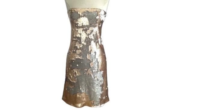 Sequin Gold and Silver Cocktail Dress