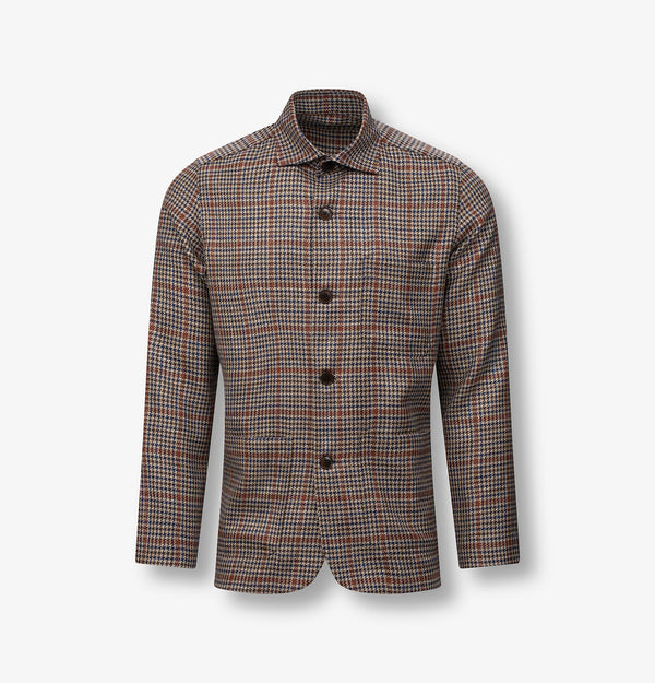 Checked summer wool overshirt and OVERSHIRTS - Ettemadis tailoring