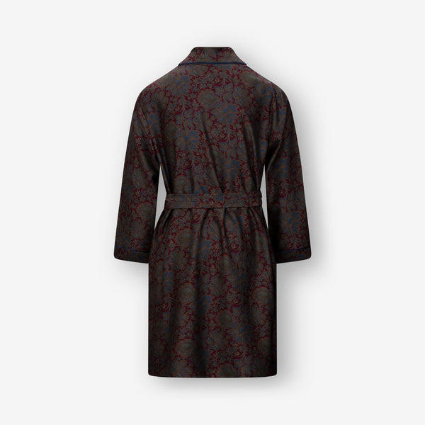 Mystic Red Silk Robe and LOUNGEWEAR - Ettemadis tailoring