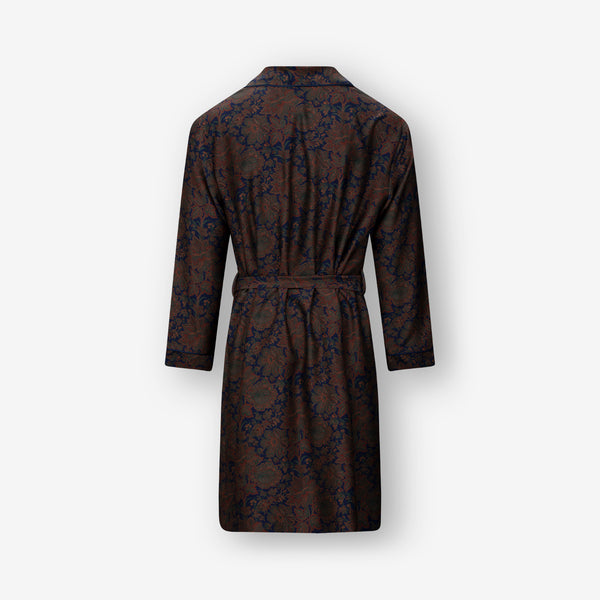 Purple Orange Paisley Silk Robe and LOUNGEWEAR - Ettemadis tailoring