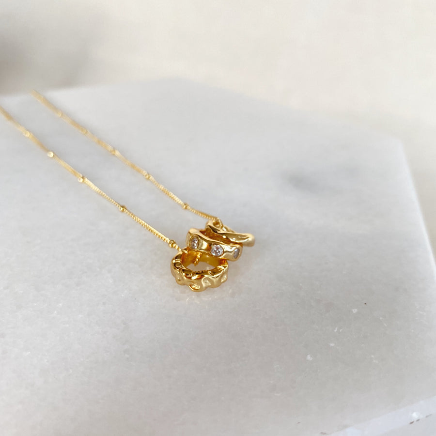 Trio Necklace in Gold