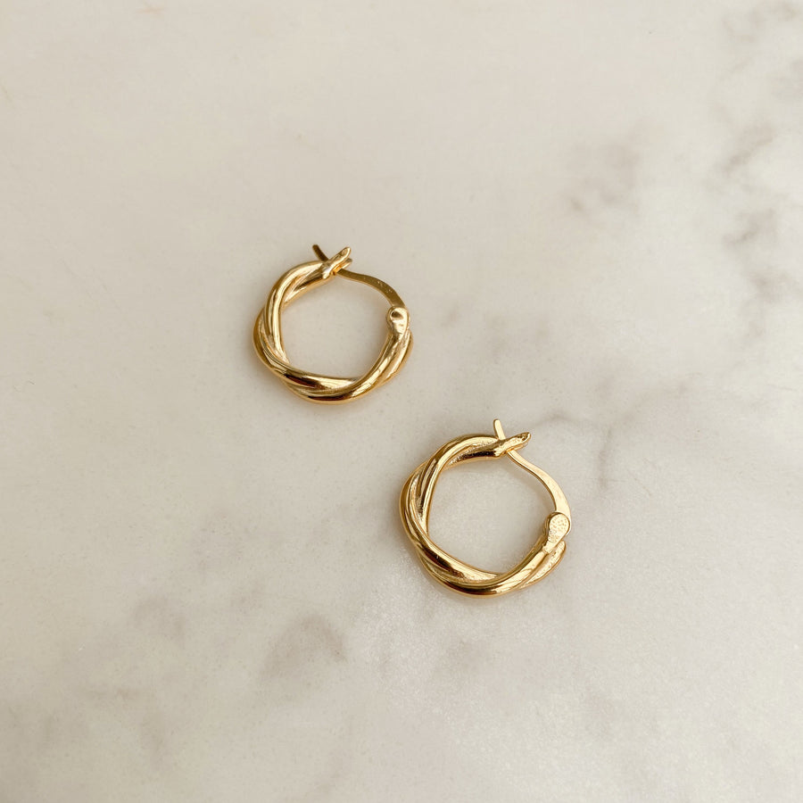 Twist Earrings in Gold