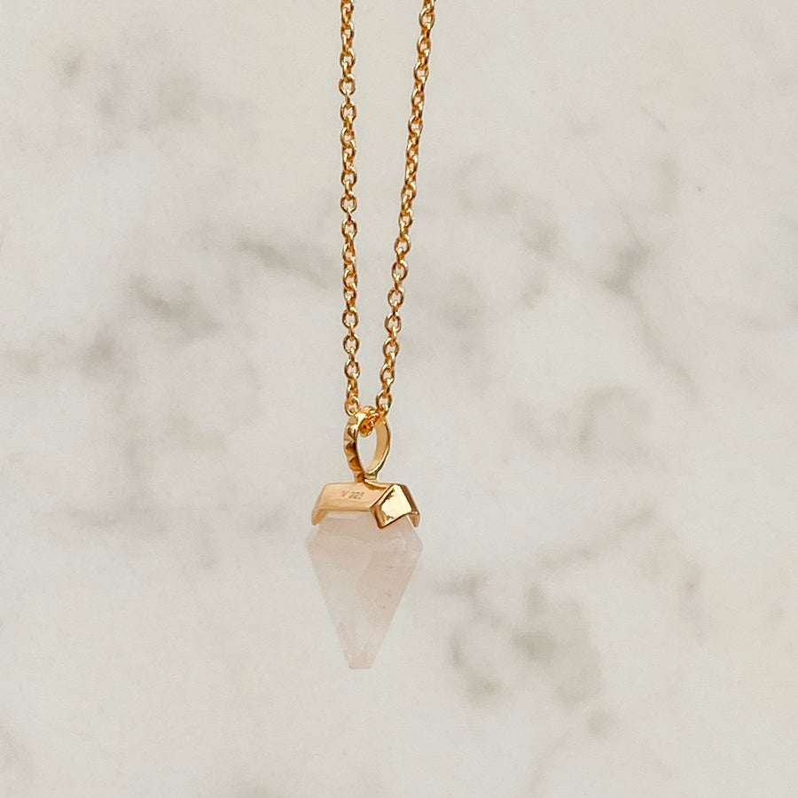 Rose Quartz Charm Necklace