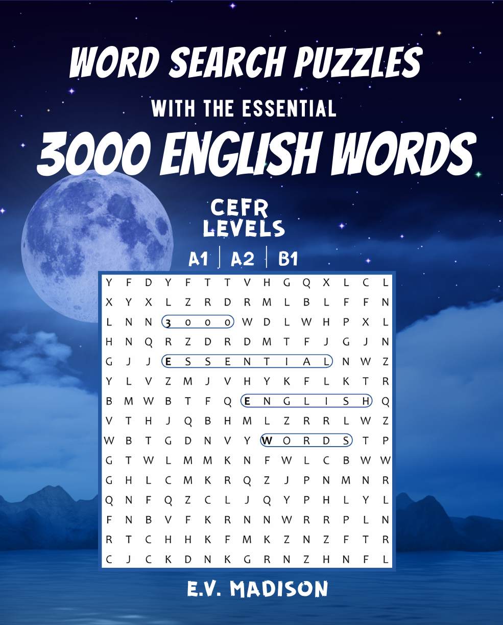 Word Search Puzzles with the Essential 3000 English Words