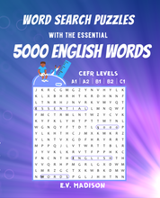 Load image into Gallery viewer, Word Search Puzzles with the Essential 5000 English Words