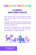 Lade das Bild in den Galerie-Viewer, All About DOGS: 50 Color In Word Search Puzzles
