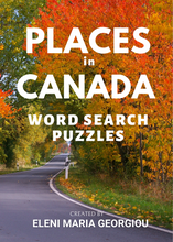 Load image into Gallery viewer, Places in Canada Word Search Puzzles