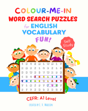 Charger l'image dans la galerie, Colour-Me-In Word Search Puzzles for English Vocabulary Fun! A1 Level