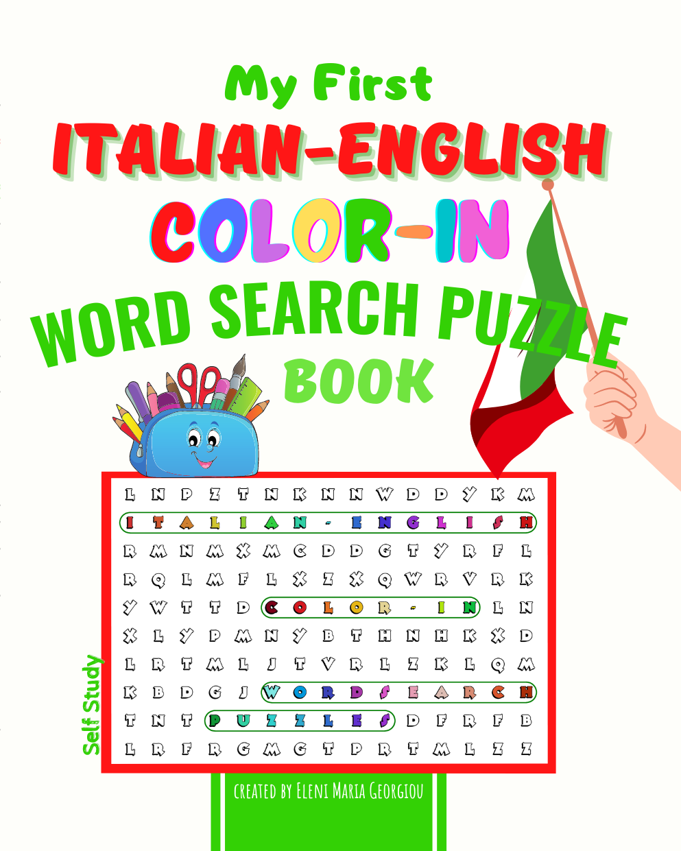 My First Italian-English Color-In Word Search Puzzle Book