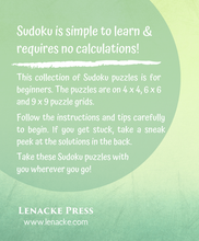 Load image into Gallery viewer, SUDOKU Puzzles for Beginners - LARGE PRINT