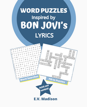 将图片加载到图库查看器,Word Puzzles Inspired by BON JOVI's Lyrics