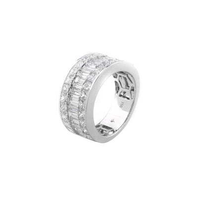18k White Gold Baguette & Princess Ring - 20504588 - H&H Jewellery Pty Ltd