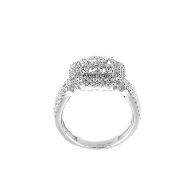 18K White Gold Diamond 6mm Cluster Ring -20521578 - H&H Jewellery Pty Ltd