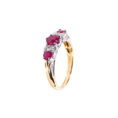 18K Gold Ruby & Diamond Ring - 20527617 - H&H Jewellery Pty Ltd