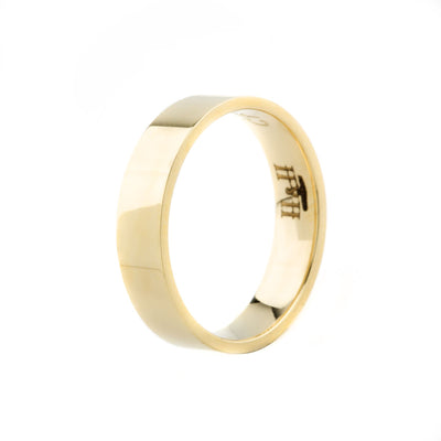 9K Gold Classic Flat Comfort Fit 5mm x 1.40mm Wedding Ring - 20535216 - H&H Jewellery Pty Ltd