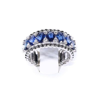 18K Gold Sapphire & Diamond Ring - 20548971 - H&H Jewellery Pty Ltd