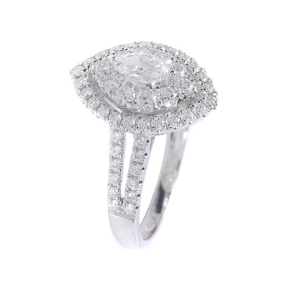H&H Marqusie Cut with Halo & Diamond Cluster Engagement Ring- 20568580 - H&H Jewellery Pty Ltd