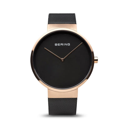 Bering Classic Brushed Gold 39mm Watch - H&H Jewellery Pty Ltd