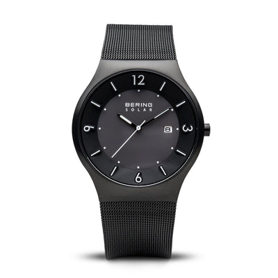 Bering Solar Brushed Black Watch - H&H Jewellery Pty Ltd