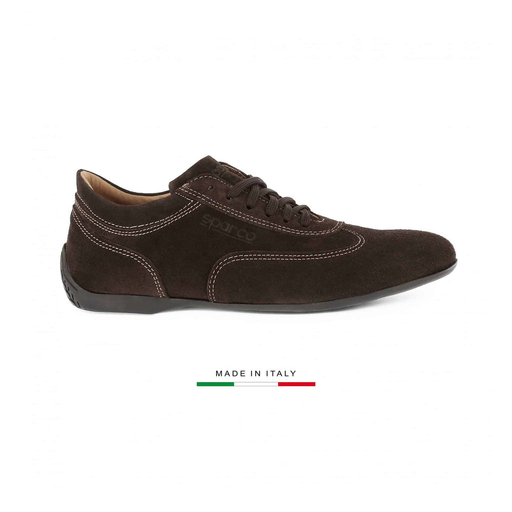 Sneakers Sparco Imola GP Suède Marron sparcofashion.fr