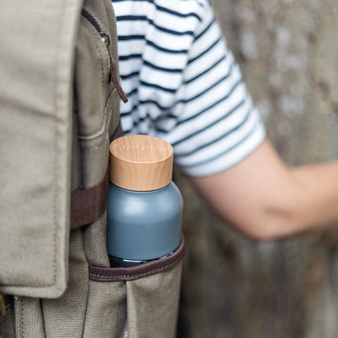 flask in backpack
