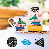 Jolly Croc mug and tea comes in plastic free packaging