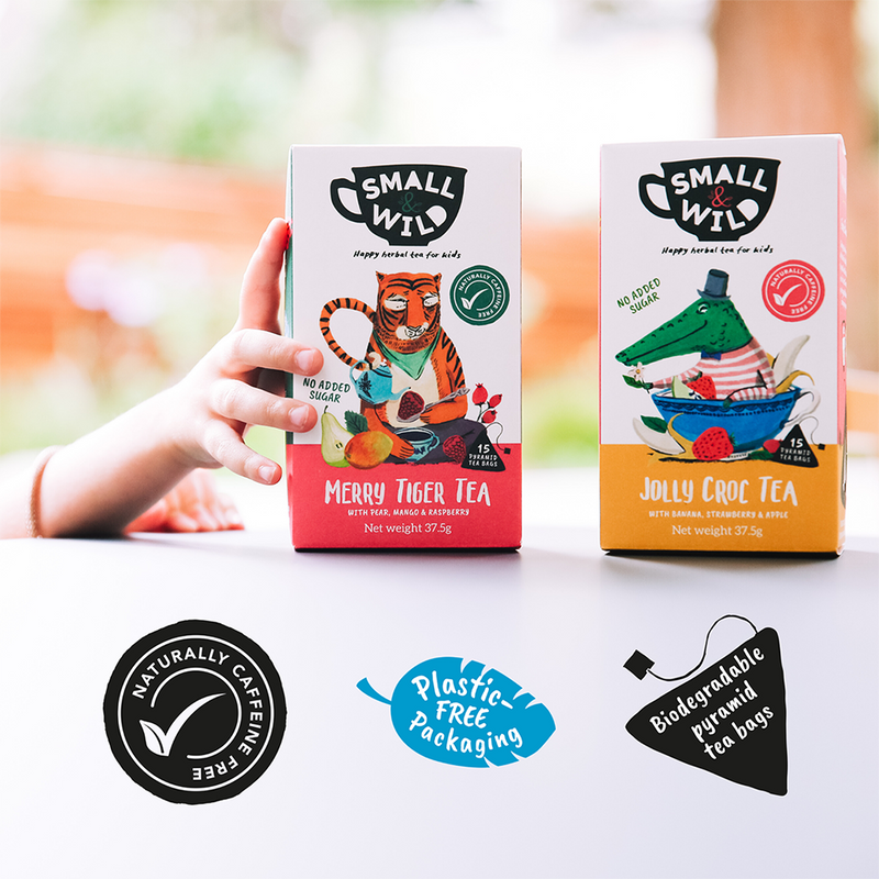 Merry Tiger and Snoozy Fox plastic free tea bags