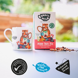 Merry Tiger mug comes in plastic free packaging