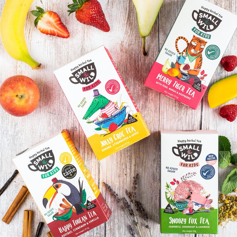 Four packs of herbal & fruit teas for kids