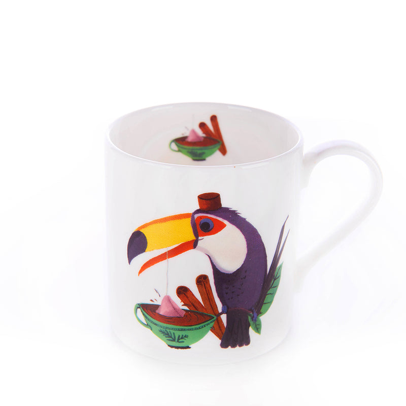 Happy Toucan mug for kids