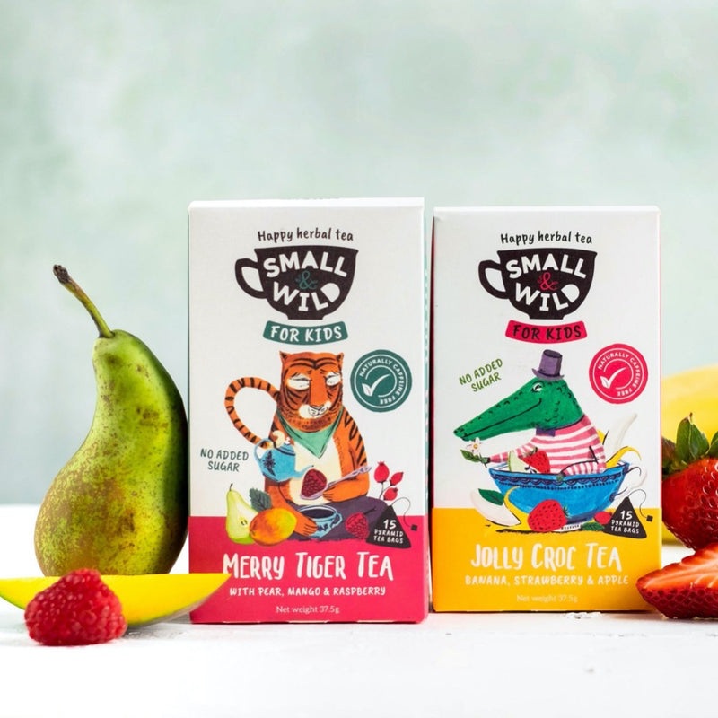 2 packs of kids fruit tea with pear, mango, strawberry