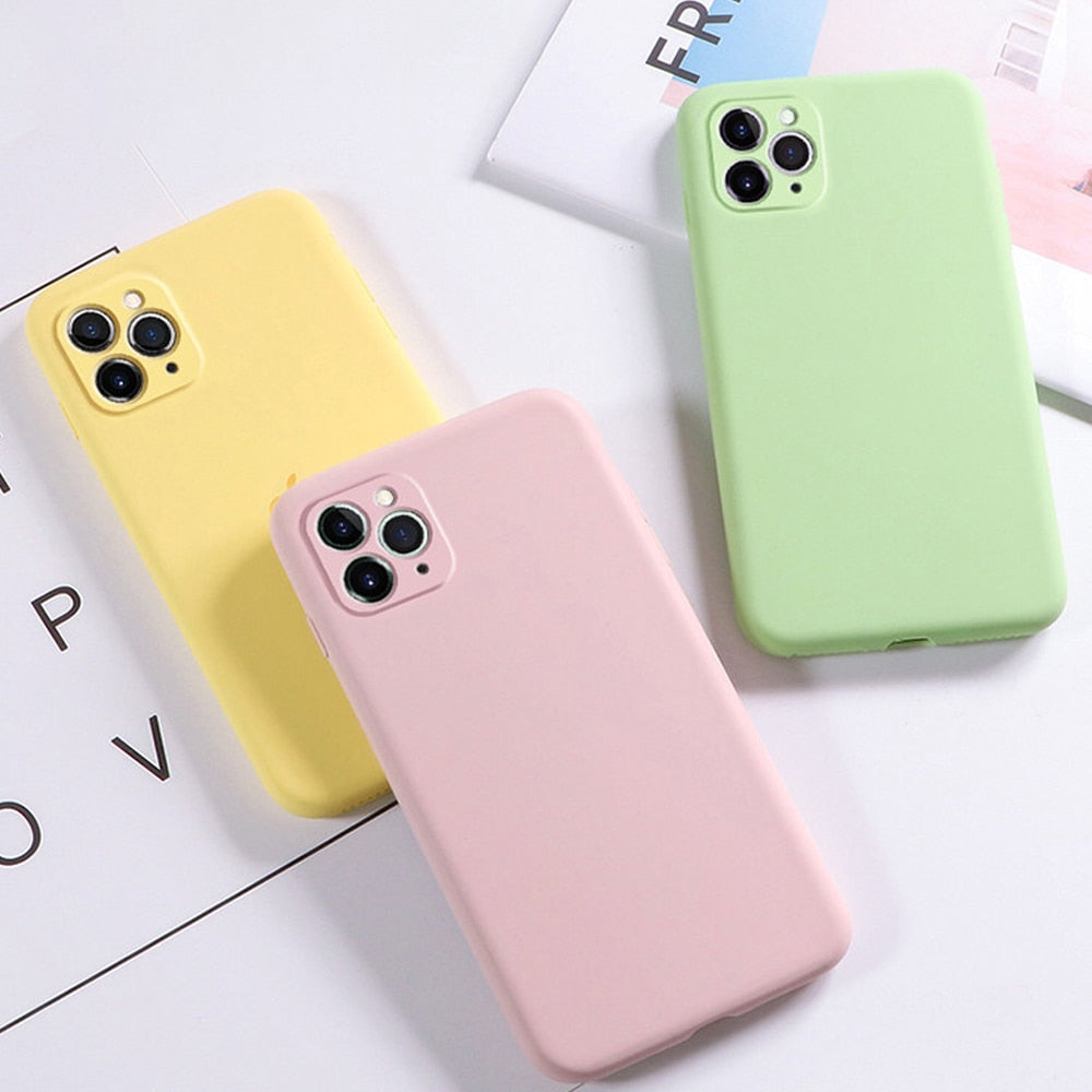 Soft Candy Liquid Silicone Case For iPhone