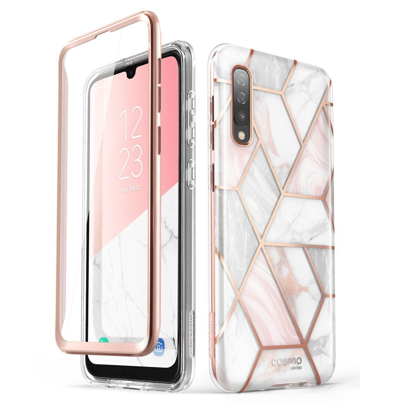 I-BLASON For Samsung Galaxy A50/A50s/A30s Case (2019) Cosmo Full-Body Glitter Marble Bumper Case with Built-in Screen Protector