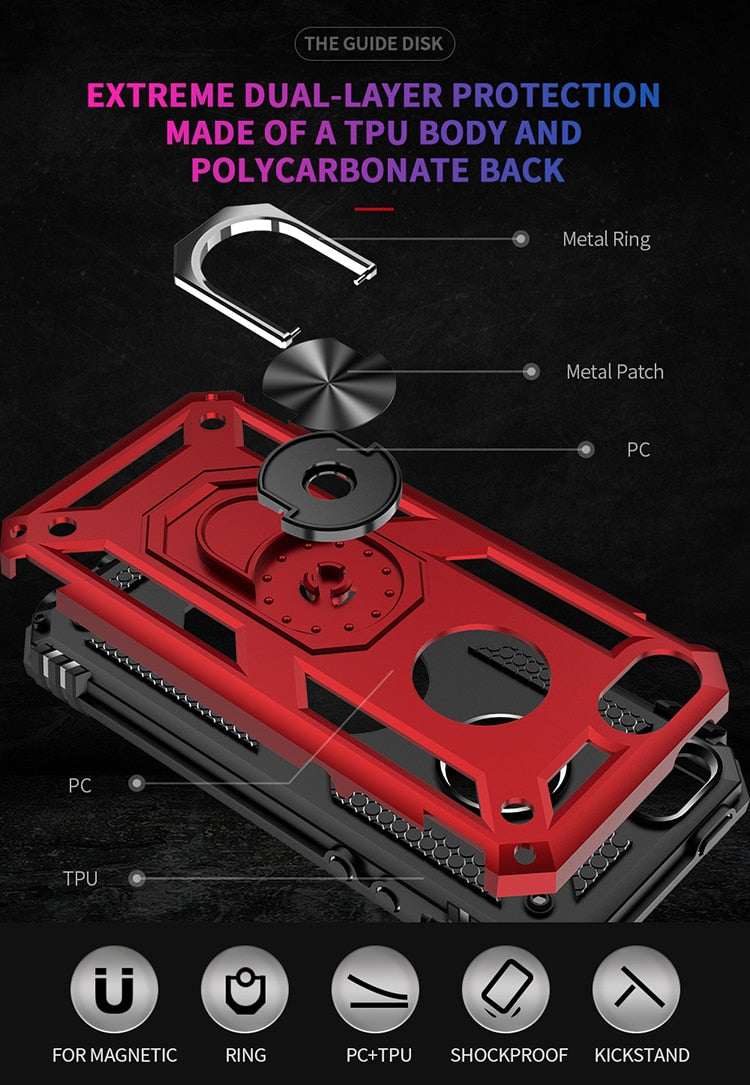 R-JUST Luxury Armor Shockproof Phone Case