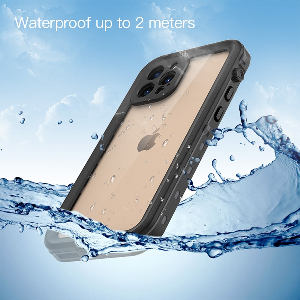 Waterproof Case for iPhone 12 Pro Max/iphone 12 mini back cover,Shockproof Outdoor Diving Cover For iPhone 12/Wireless charging