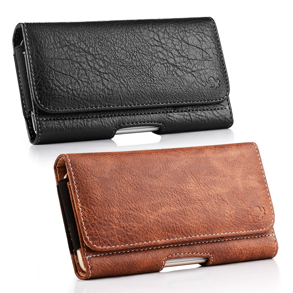 QED universal leather phone pouch