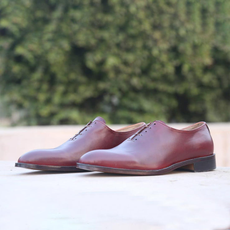 Brown Lace Up Formal Leather Shoes For Men