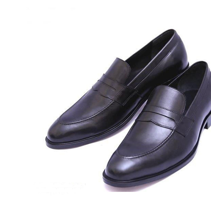 Penny Loafer Slip On Black Formal Leather Shoes For Men